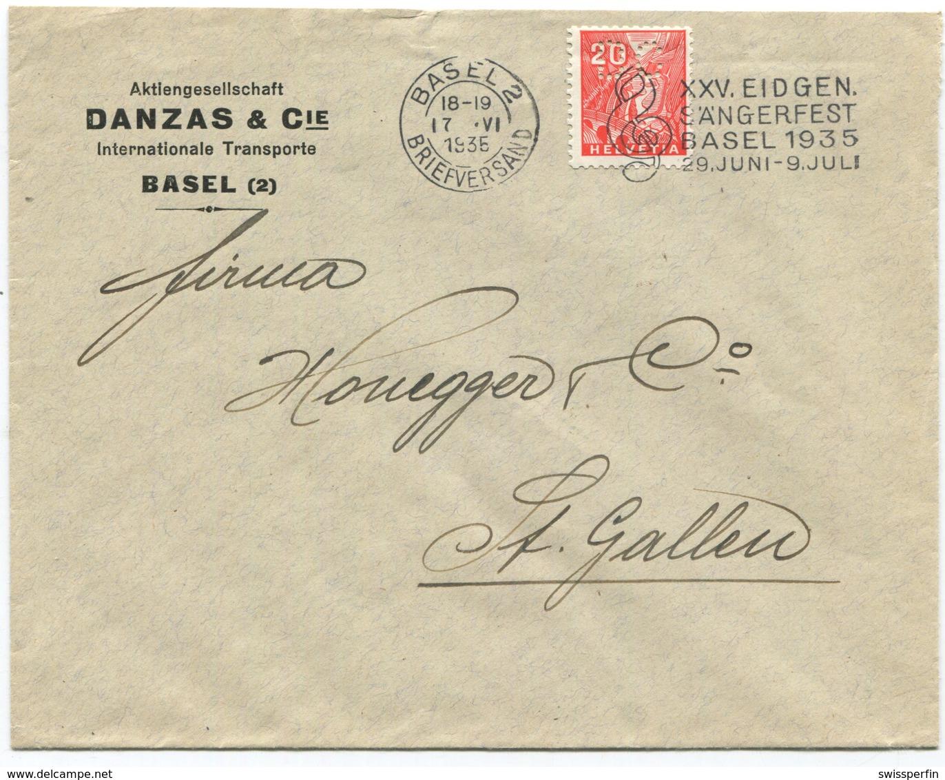 1848 - PERFIN DC Auf Firmenumschlag Von BASEL - Suisse