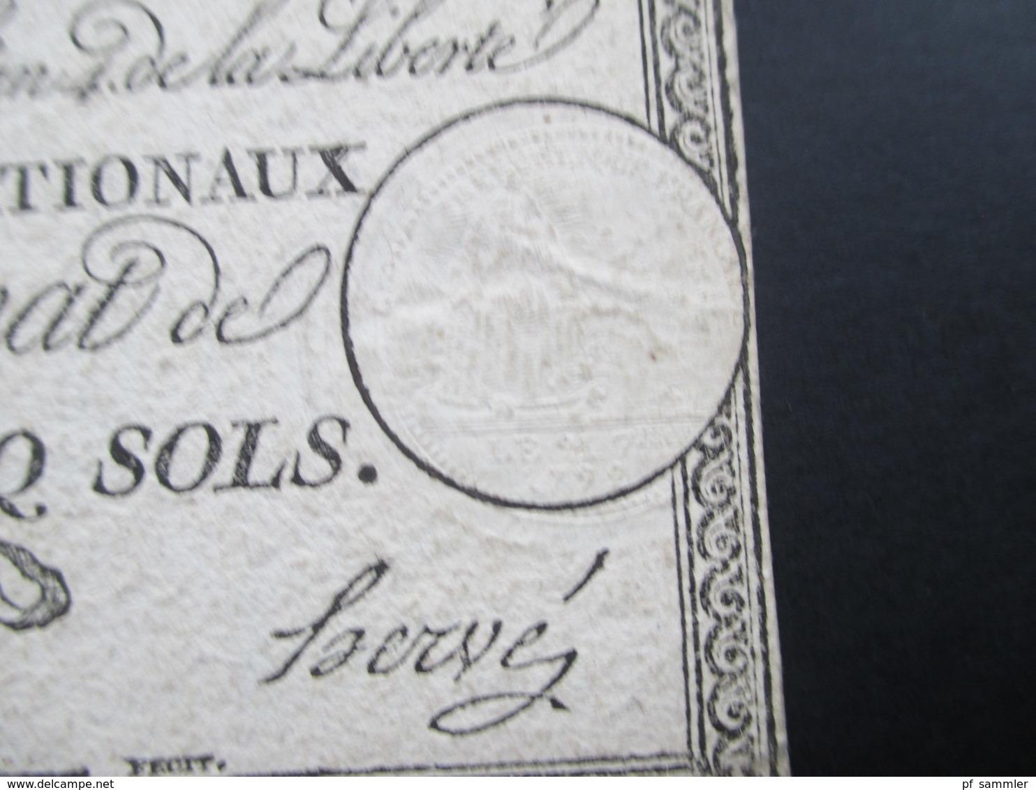 Frankreich Assignat De Vingt - Cinq Sols 4. Janviers 1792. Sie 419e. 25 Sols - ...-1889 Franchi Antichi Circolanti Durante Il XIX Sec.