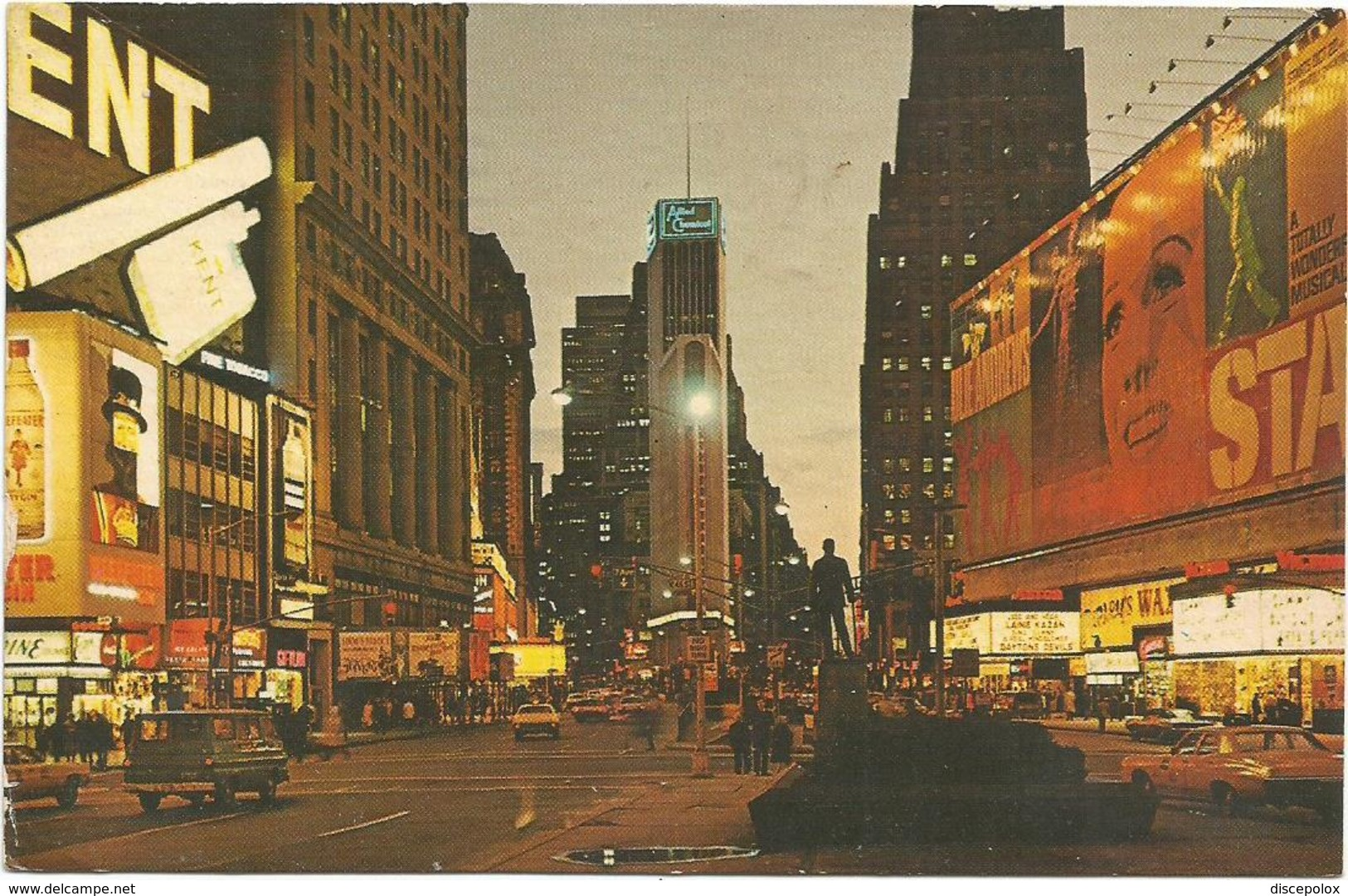 X2645 New York - Times Square And Allied Chemical Building / Viaggiata 1980 - Time Square