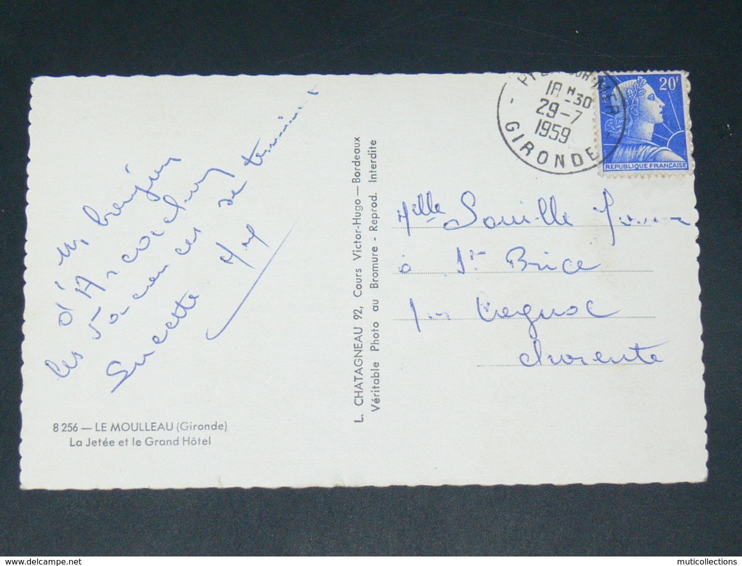 LE MOULLEAU  / ARDT ARCACHON    1950   /    LE PORT  ... EDIT - France