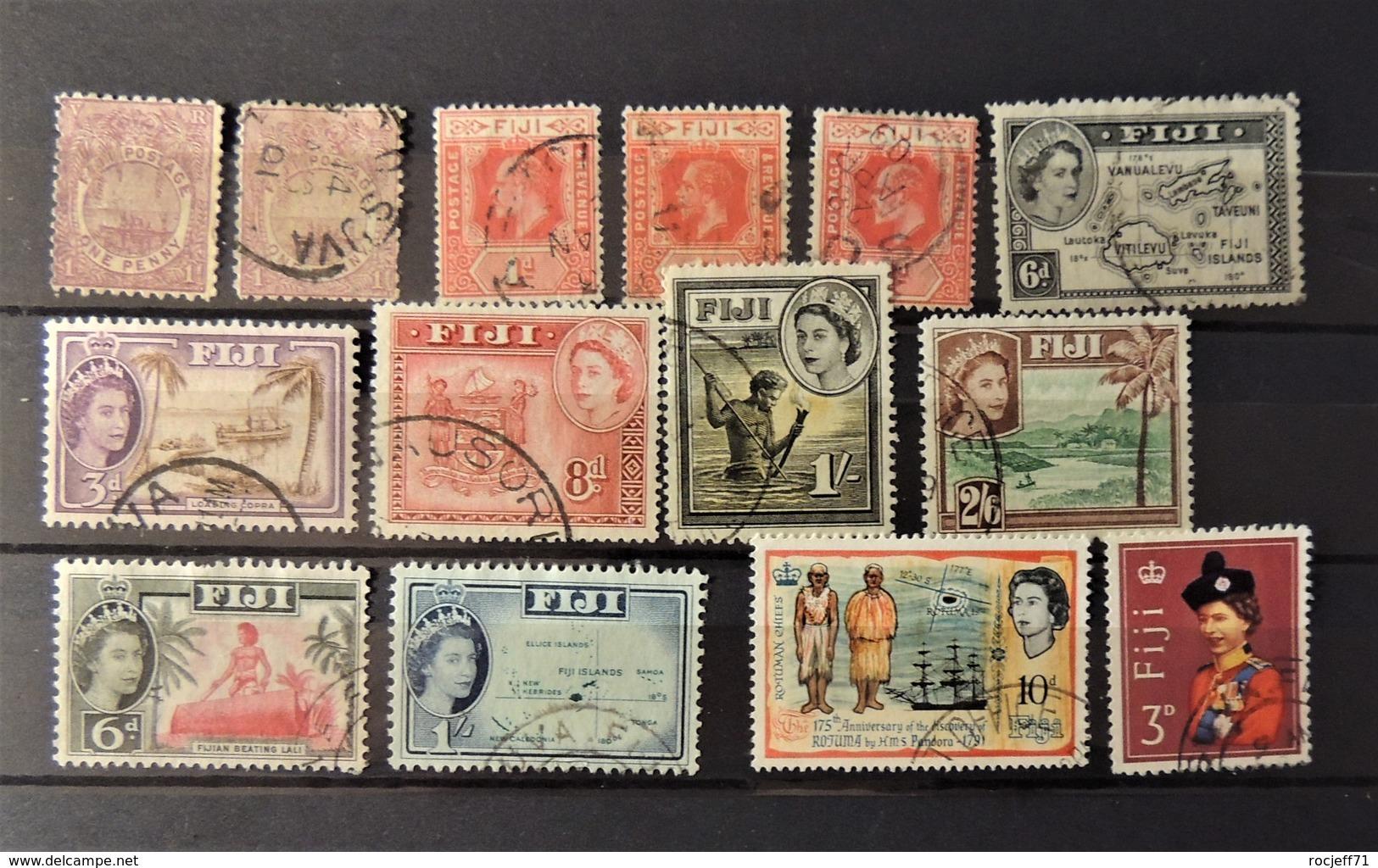 Fidji Old Stamps Selection - Fiji (...-1970)