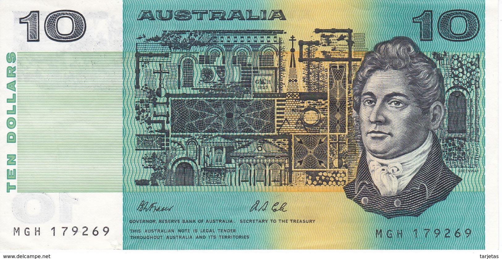BILLETE DE AUSTRALIA DE 10 DOLLARS  DEL AÑO 1985 CALIDAD EBC (XF)  (BANKNOTE) - Emisiones Gubernamentales Decimales 1966-...