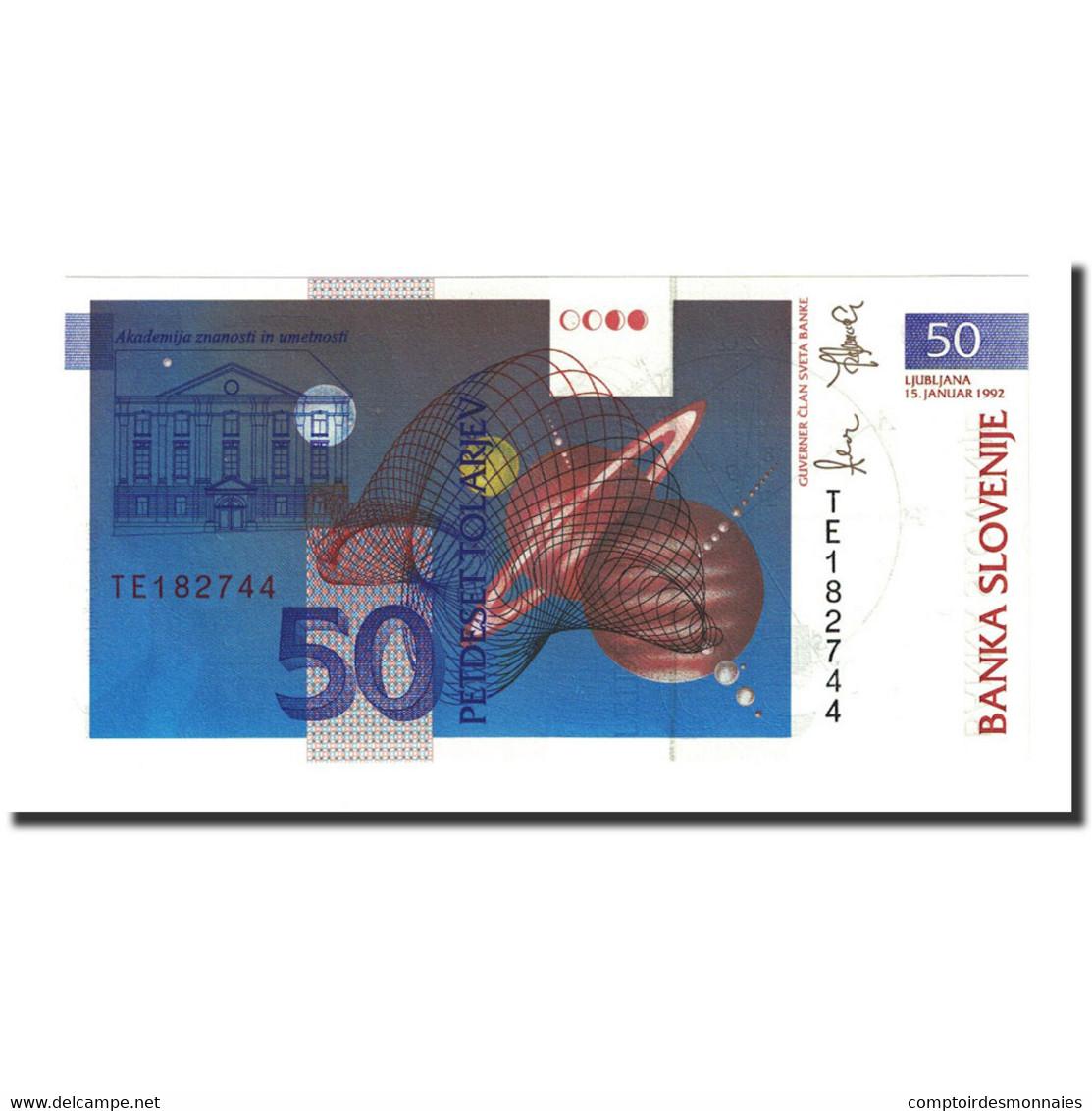 Billet, Slovénie, 50 Tolarjev, 1992-01-15, KM:13a, NEUF - Slovénie