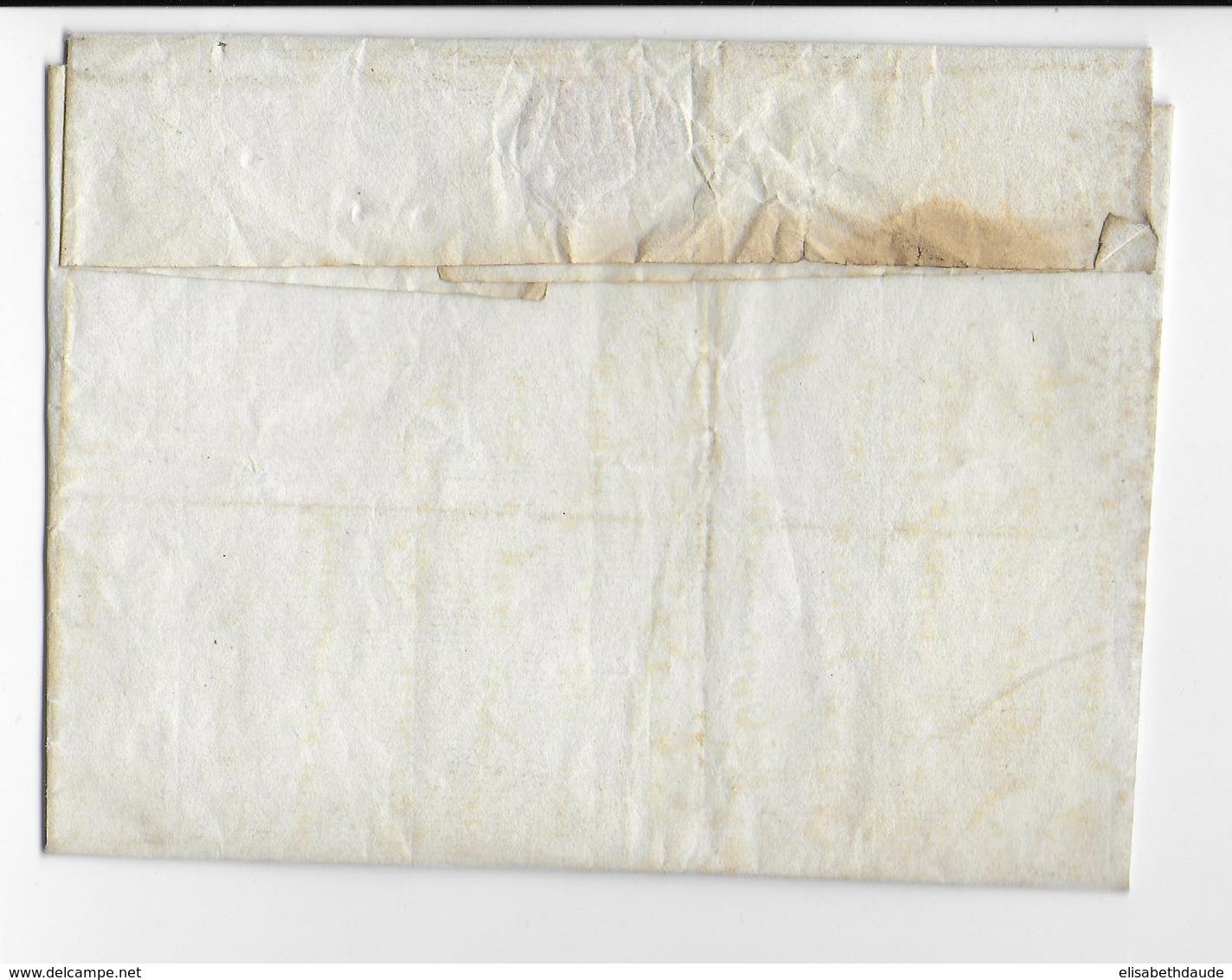 LOT - 1816/1824 - LETTRE LSC De GOURDON Avec MARQUE ROUGE => CLERMONT-FERRAND - 1801-1848: Precursores XIX