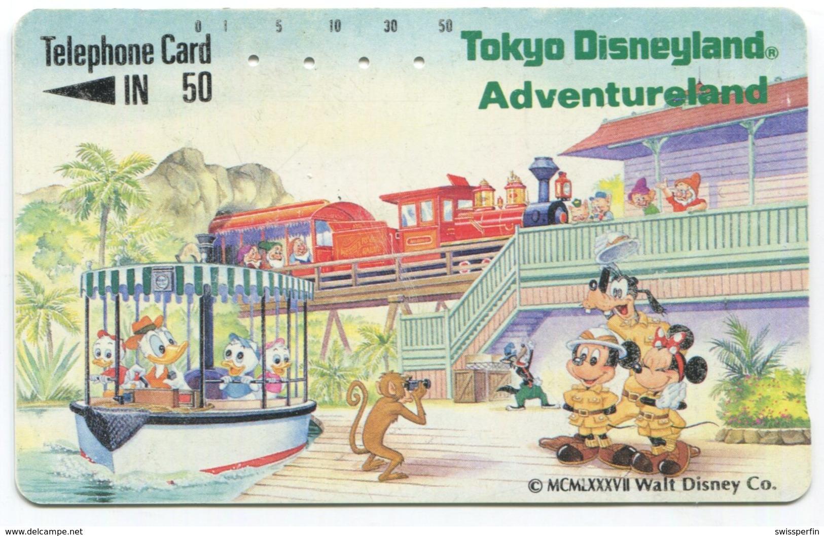 1851 - Tokio Disneyland Japan Comic Telefonkarte - Disney