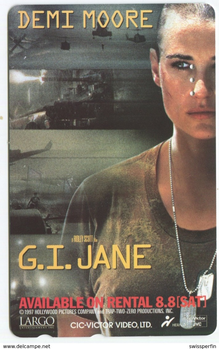 1865 - G.I. JANE Mit Demi Moore - Movie / Film - Japan Telefonkarte - Cinéma