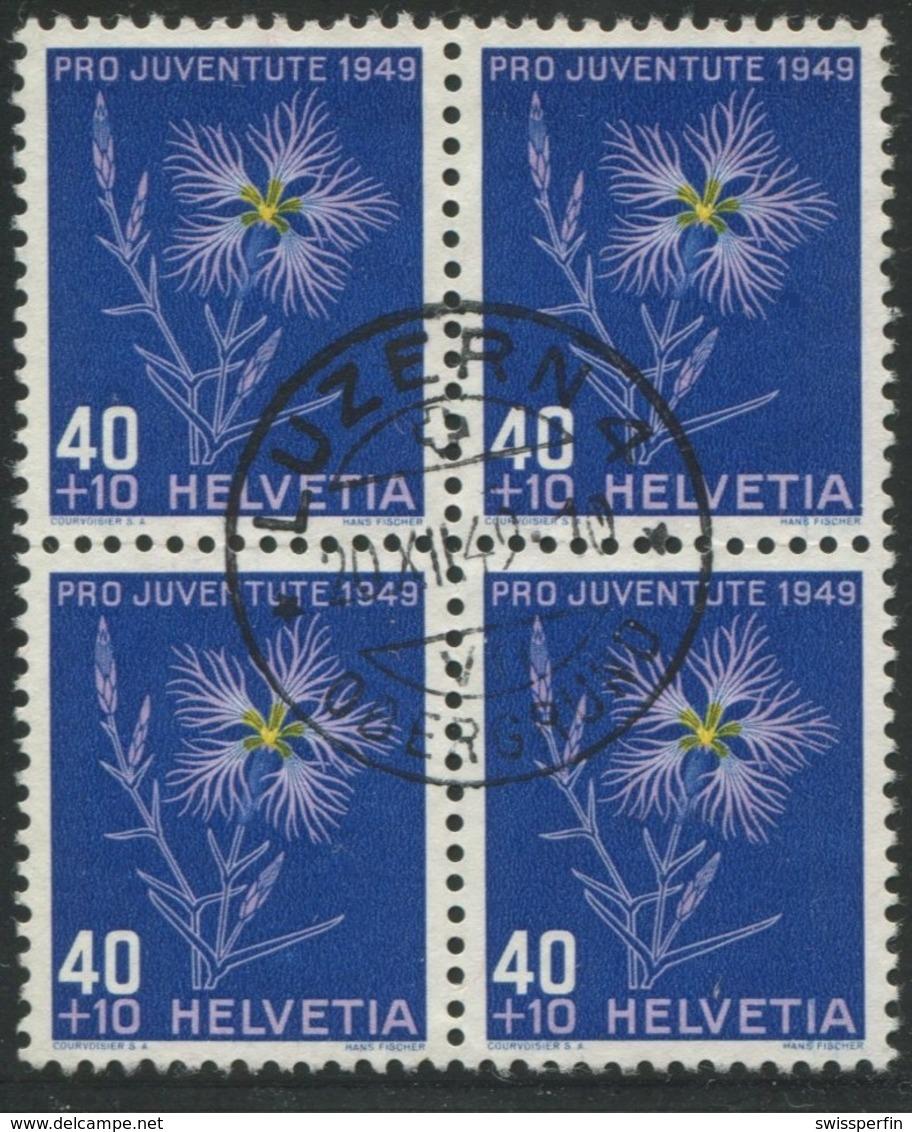 1871 - 40 Rp. Prachtnelke - Zentrumstempel LUZERN 20.XII.49 - Pro Juventute
