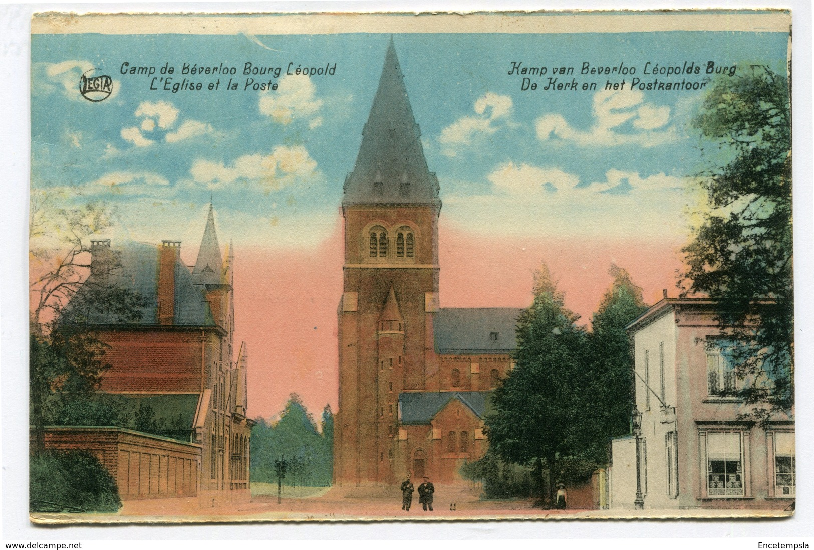 CPA - Carte Postale - Belgique - Camp De Béverloo - L'Eglise Et La Poste (CP3493) - Leopoldsburg (Camp De Beverloo)