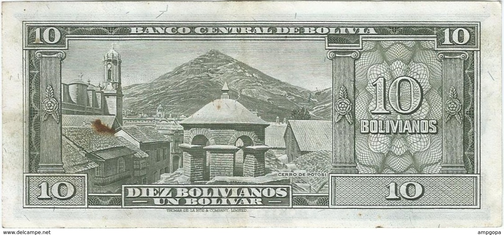 Bolivia 10 Bolivianos 20-12-1945 (1952) Pick 139.b Ref 1699 - Bolivia