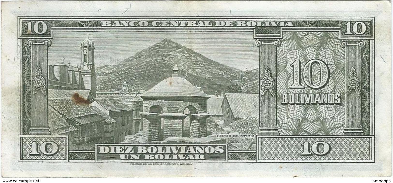 Bolivia 10 Bolivianos 20-12-1945 (1952) Pick 139 B.2 Ref 755-3 - Bolivia