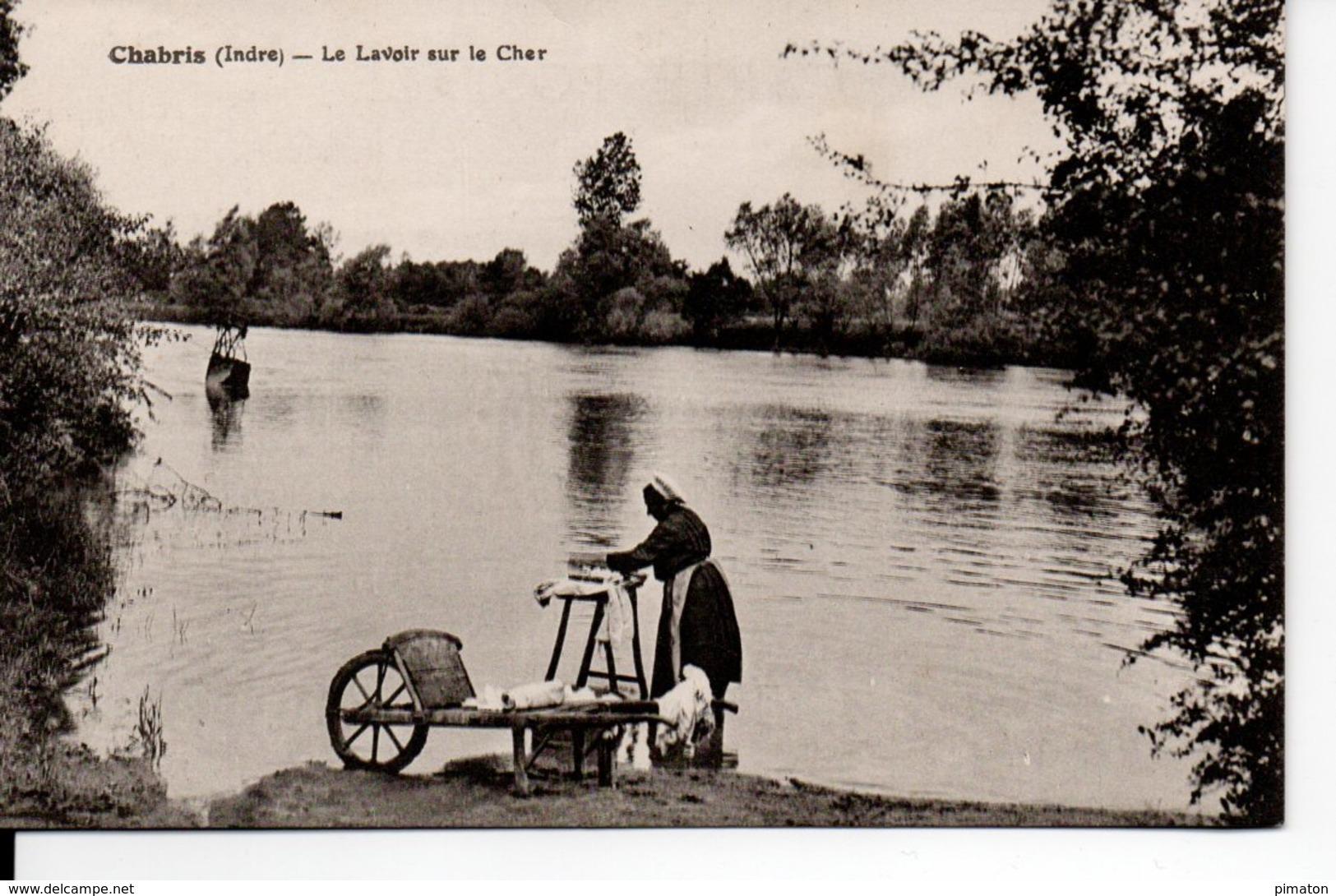 Chabris - Le Lavoir Sur Le Cher ( Lavandière ) - France