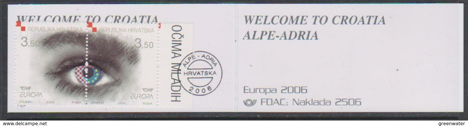 Europa Cept 2006 Croatia 2v In Booklet  ** Mnh (38985A) - Europa-CEPT