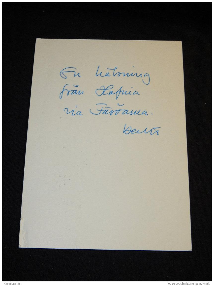 Faroe Islands 1976 Törshavn Ur Danmark Card__(L-15958) - Färöer Inseln