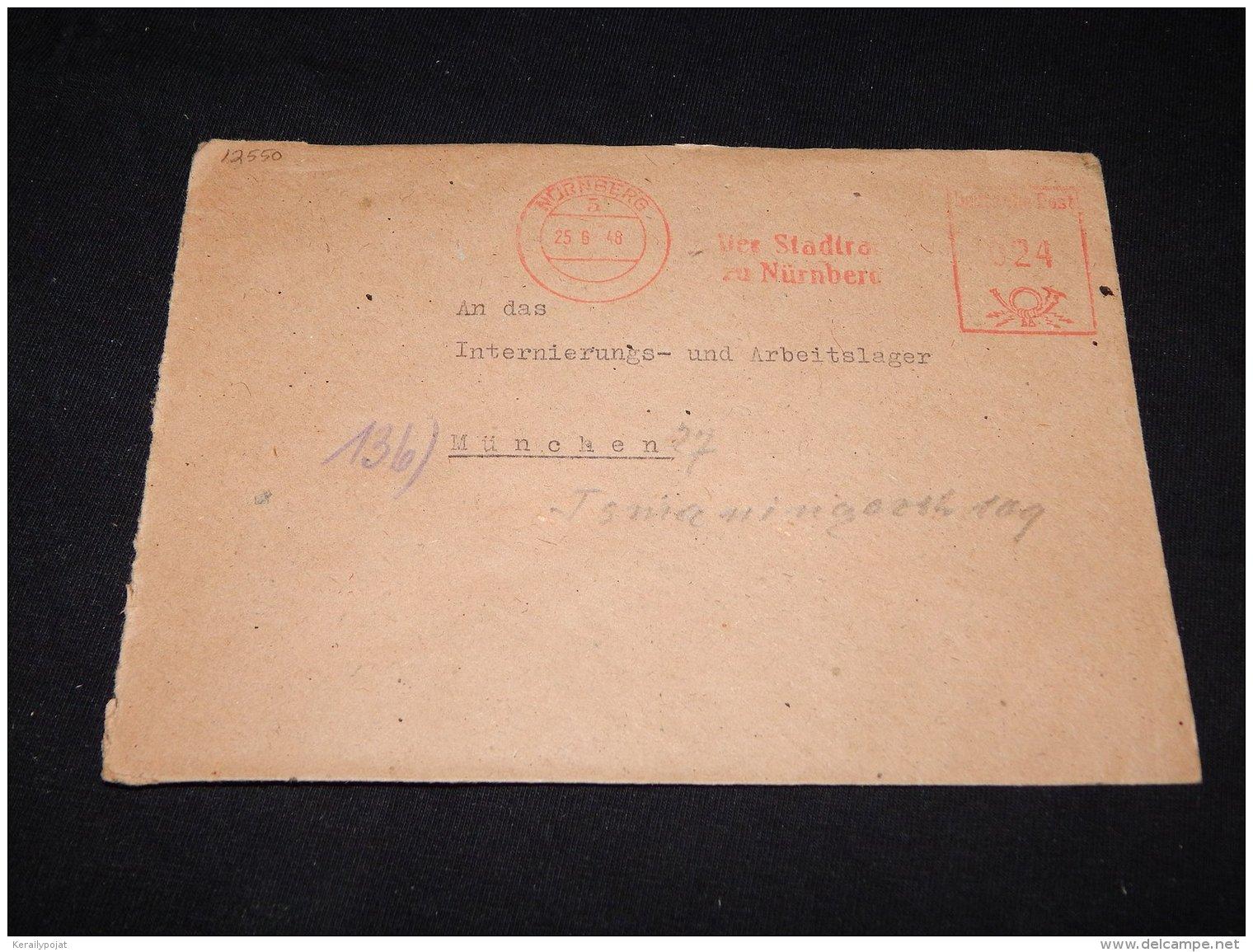 Germany 1948 Nurnberg Der Stadtra Meter Mark Cover__(L-12550) - Deutschland