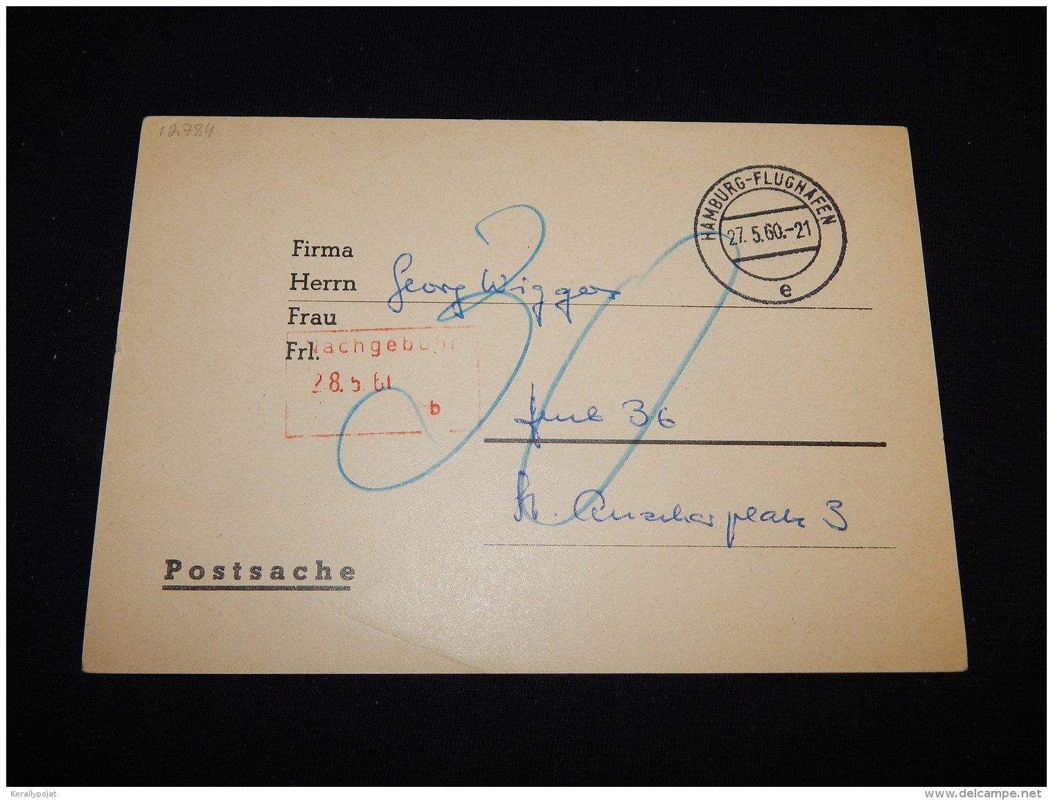 Germany 1960 Hamburg-Flughafen Card__(L-12784) - Deutschland