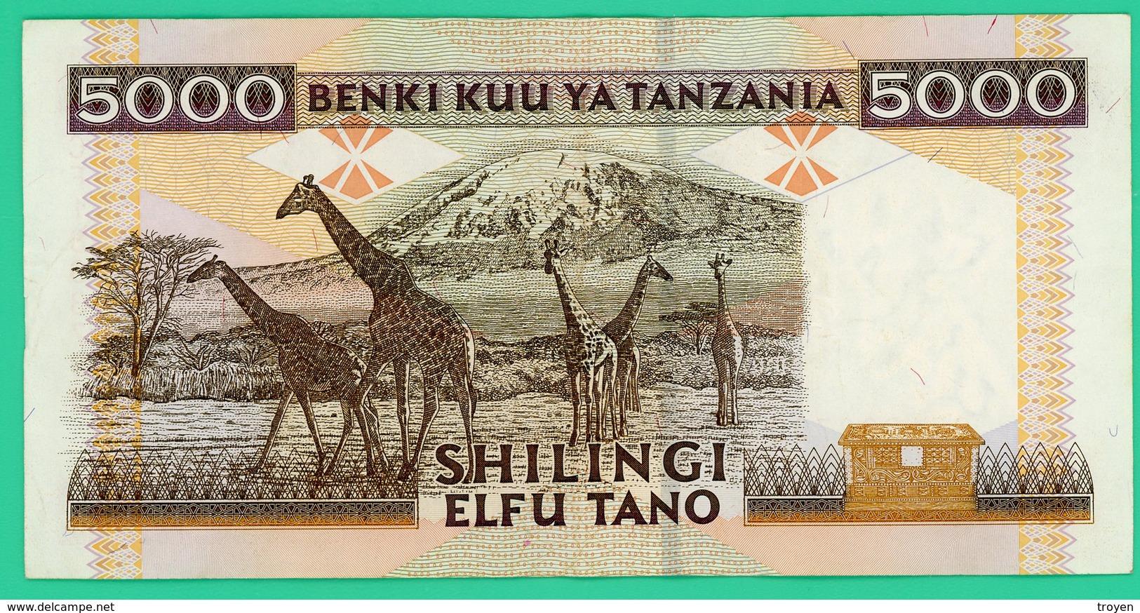 5000 Shilingi - Tanzanie - N° CF1893799 - Sup - - Tanzanie