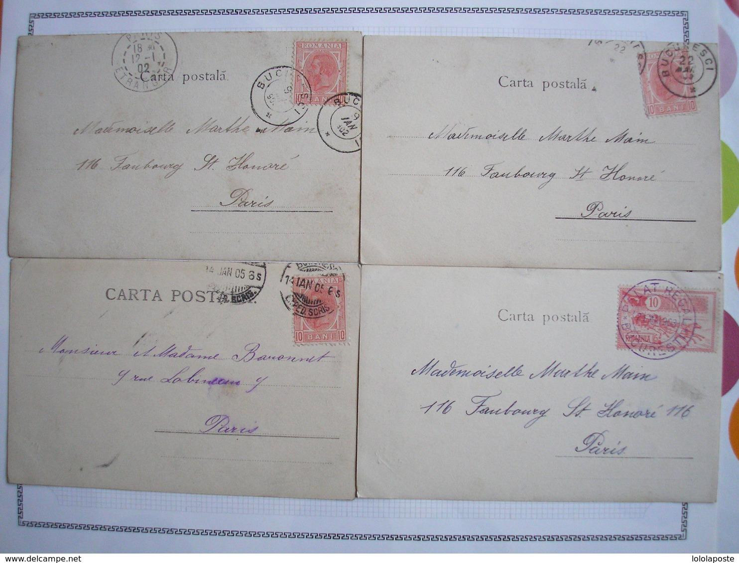 ROUMANIE - 7 CPA - 7 Belles Cartes Précurseur Du Même éditeur - Roumanie
