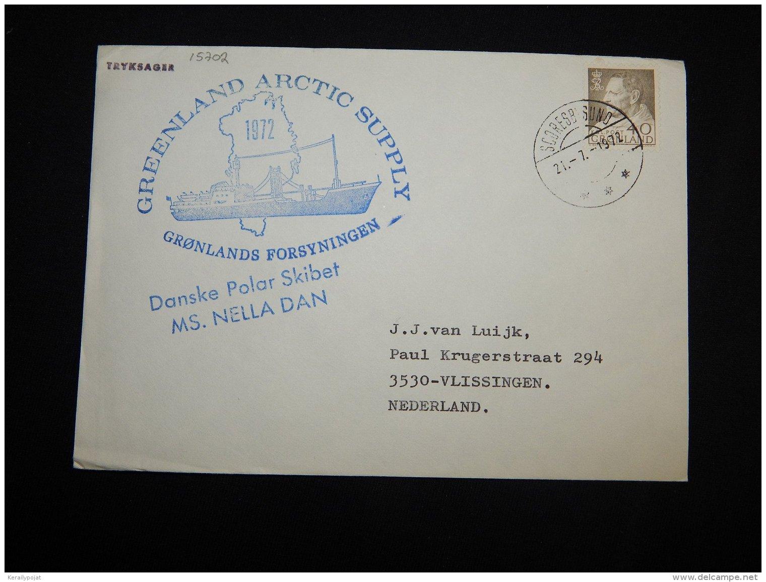 Greenland 1989 Scoresbysund MS Nella Dan Cover__(L-15702) - Groenlandia