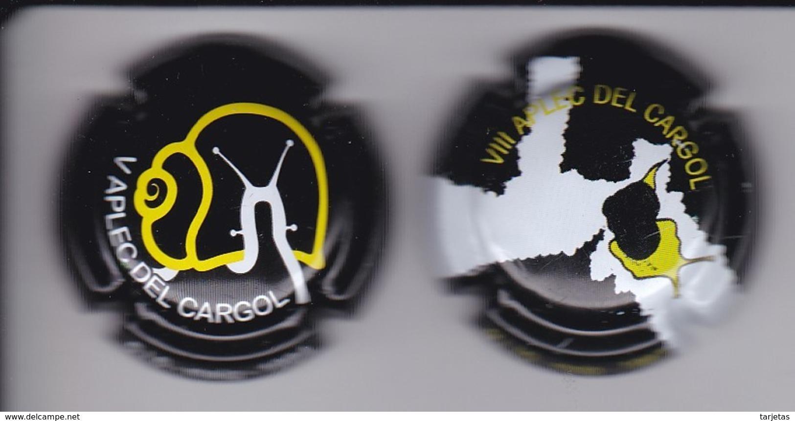 LOTE DE 2 PLACAS DE CAVA DEL APLEC DEL CARGOL DE LLEIDA (CAPSULE) CARACOL-ESCARGOT-SNAIL - Placas De Cava