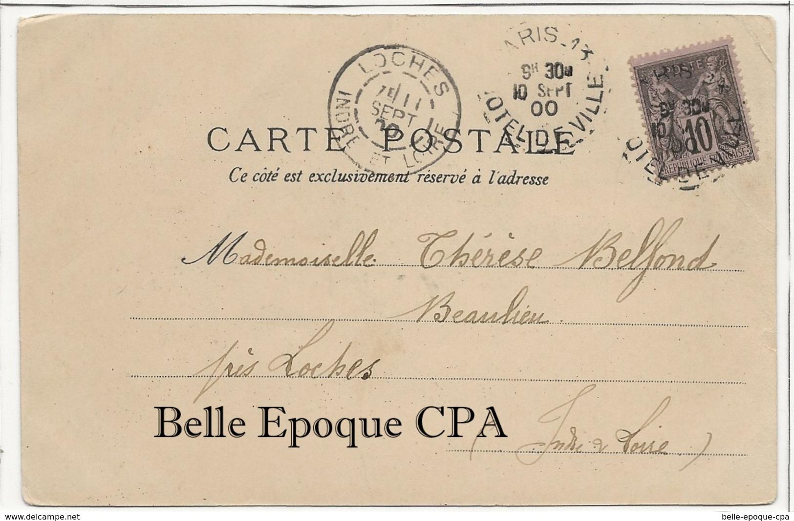 PRÉCURSEUR 1900 /// 75 - PARIS 01 - La Seine - Vue Perspective ++++ Sans éditeur ++++ Vers Beaulieu-lès-Loches, 1900 - Arrondissement: 01