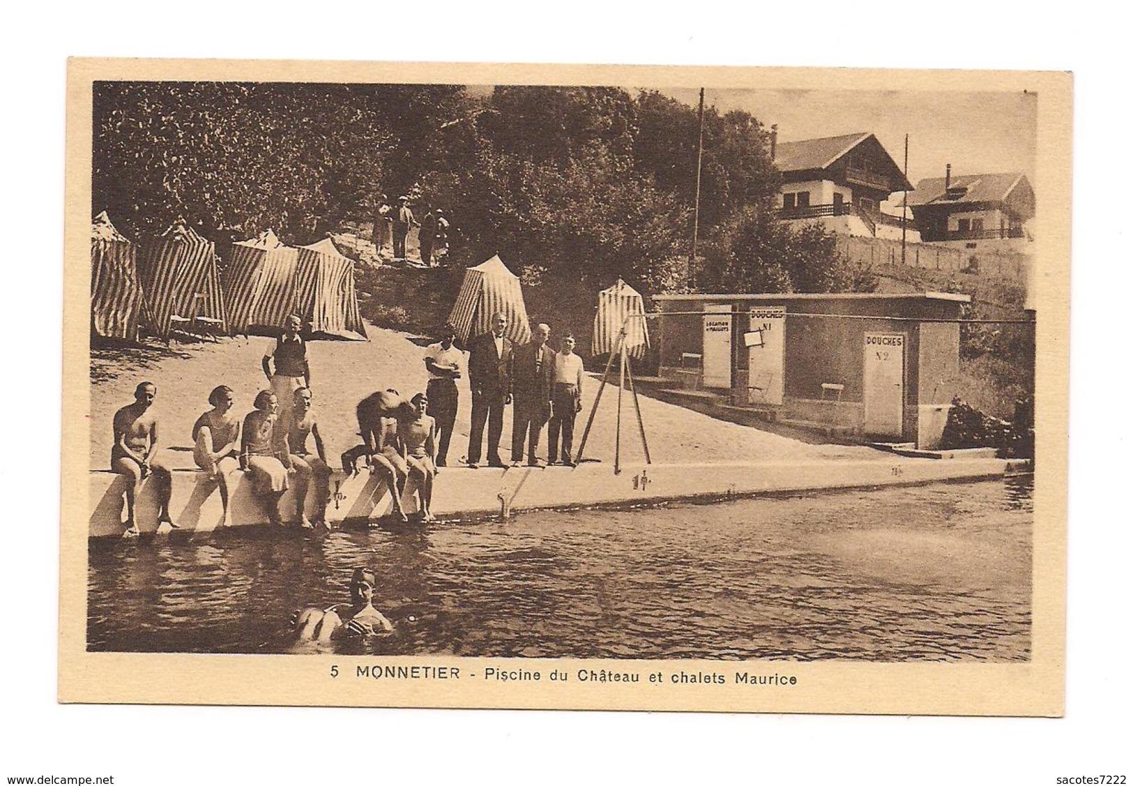 MONNETIER La Piscine Du Château Et Chalets Maurice - - Autres Communes