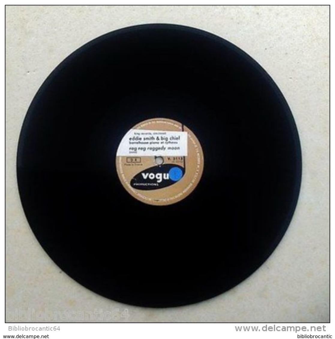 "78 Tours "" EDDIE SMITH & BIG CHIEF ""RAGTIME MELODY // RAG RAG RAGGEDY MOON < VOGUE V.3113 - 78 T - Disques Pour Gramophone"