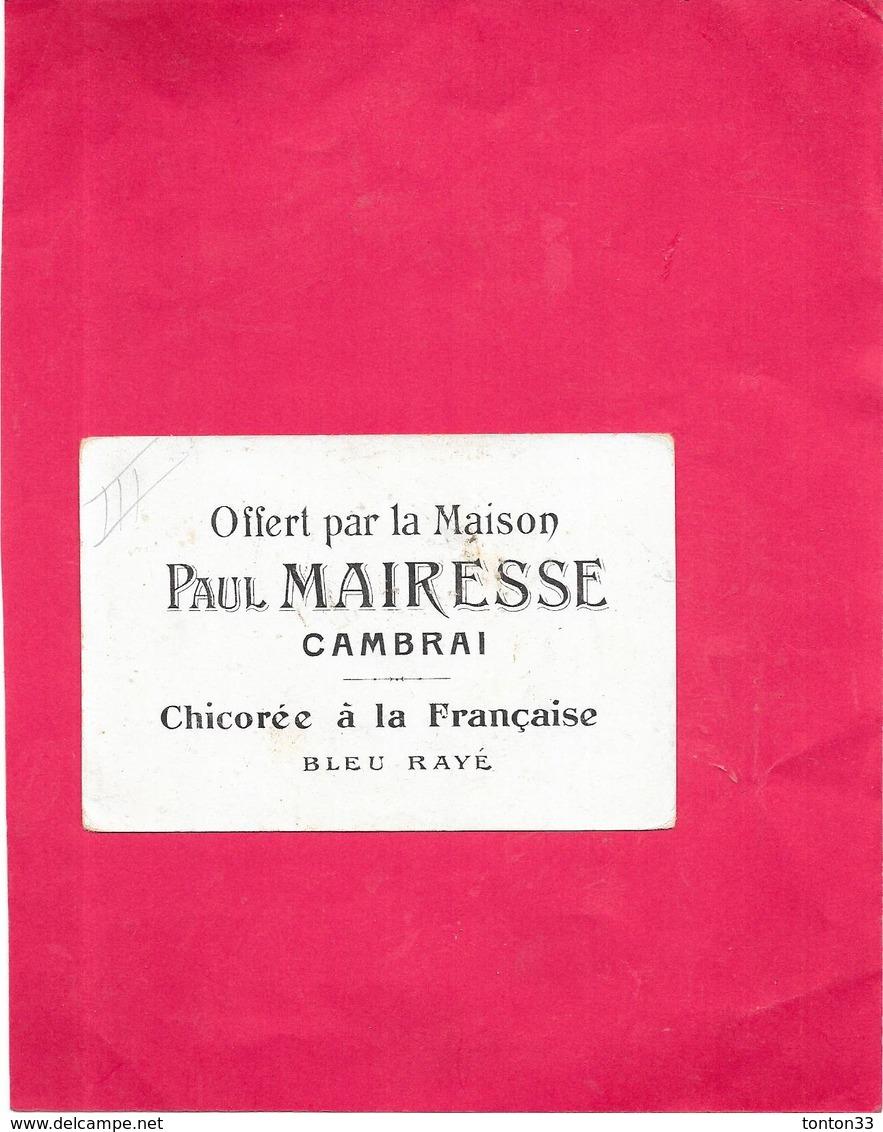 CHROMO CHICOREE A LA FRANCAISE  BLEU RAYE Paul MAIRESSE à CAMBRAI - STe ANNE De BEAUPRE  BARA11 - - Thee & Koffie