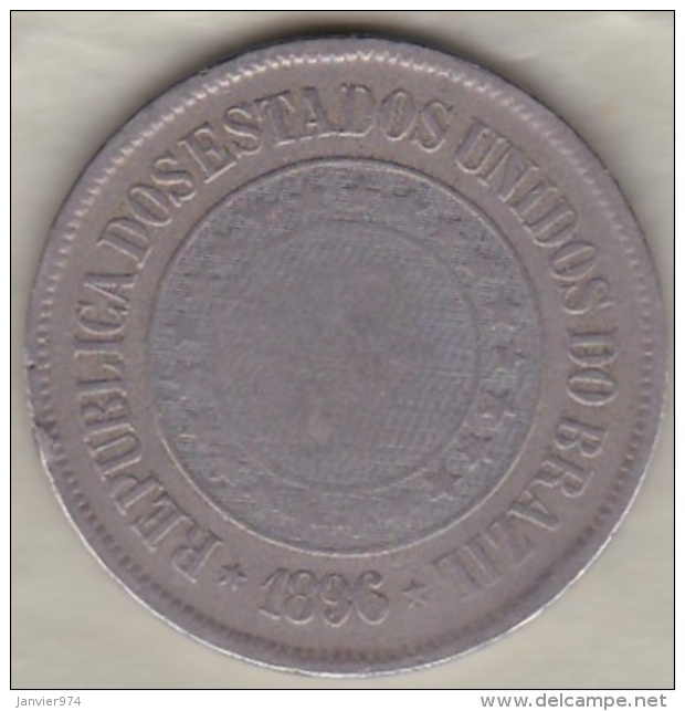 Bresil. 200 Reis 1896. Copper-Nickel .KM# 493 - Brésil