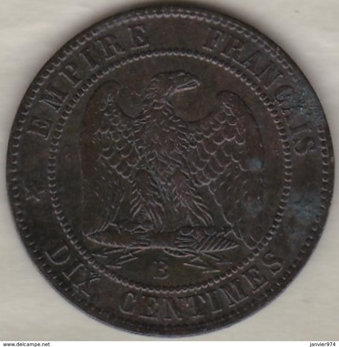 10 Centimes 1855 B Rouen  Ancre Napoléon III - D. 10 Centimes