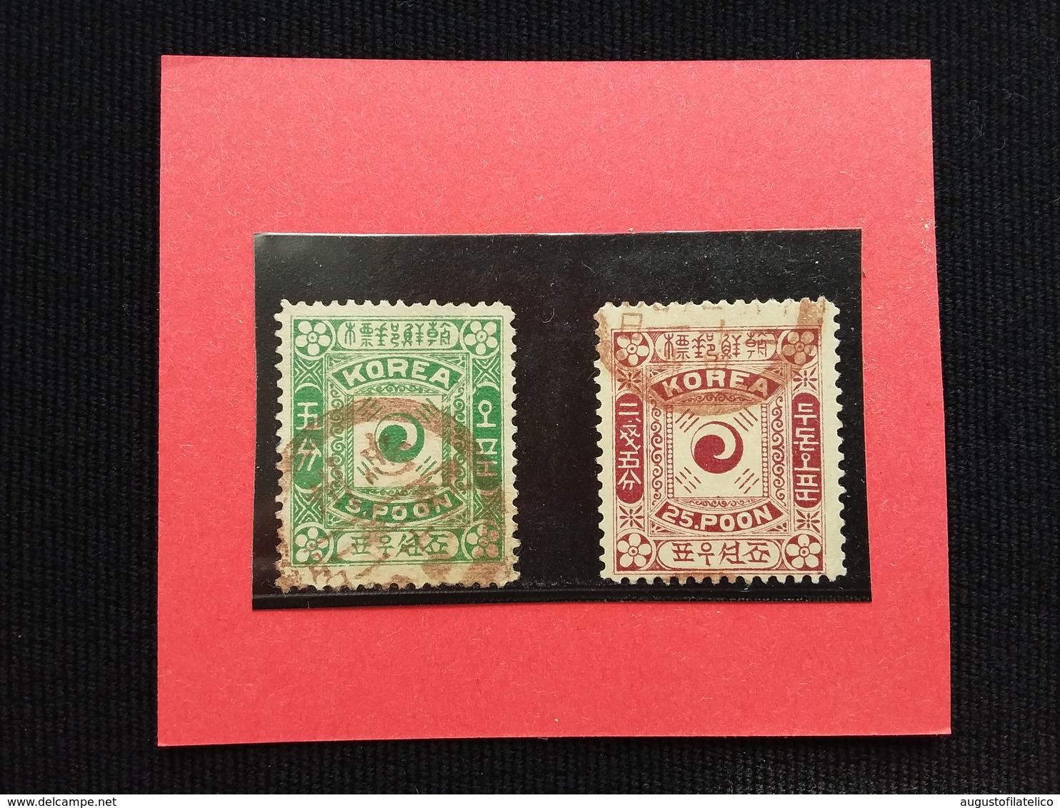 COREA 1895/99 - Nn. 6A-8 Yvert Timbrati + Spese Postali - Corea (...-1945)