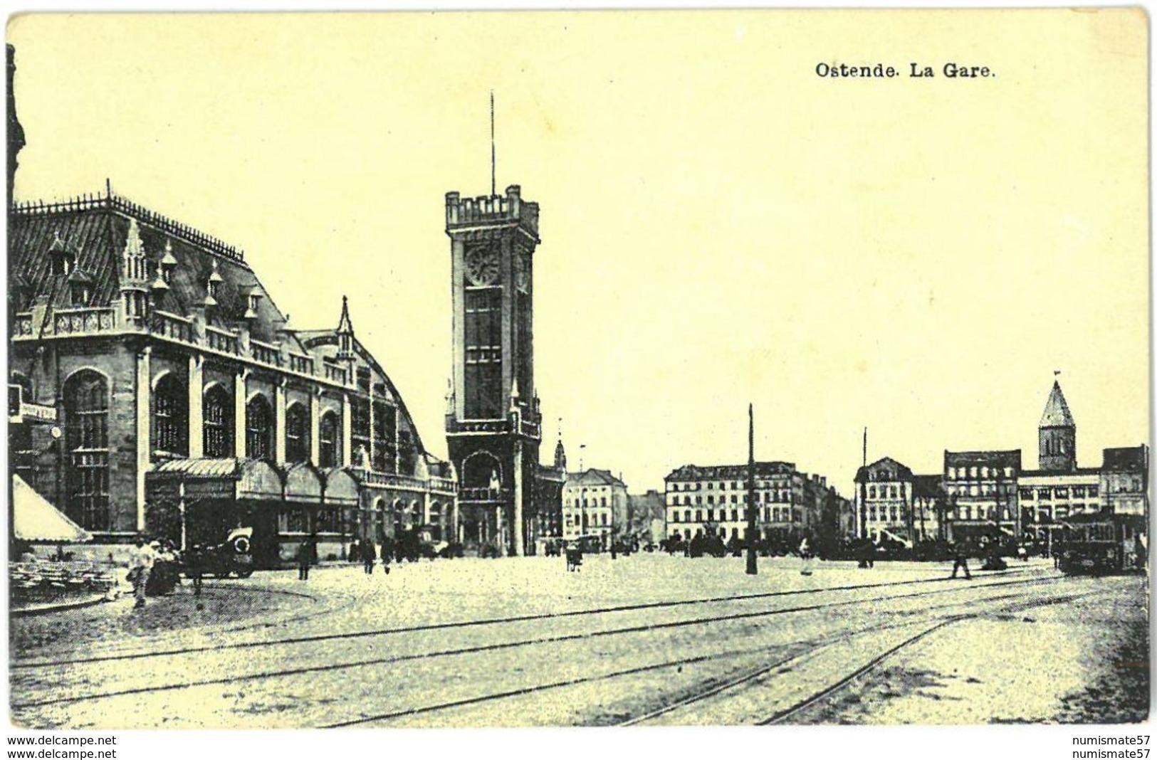 CPA OSTENDE - La Gare - Oostende