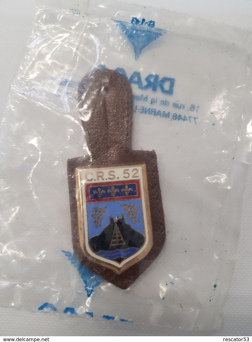 Insigne Compagnie De CRS N°52 Dans Son Sachet Drago - Police & Gendarmerie