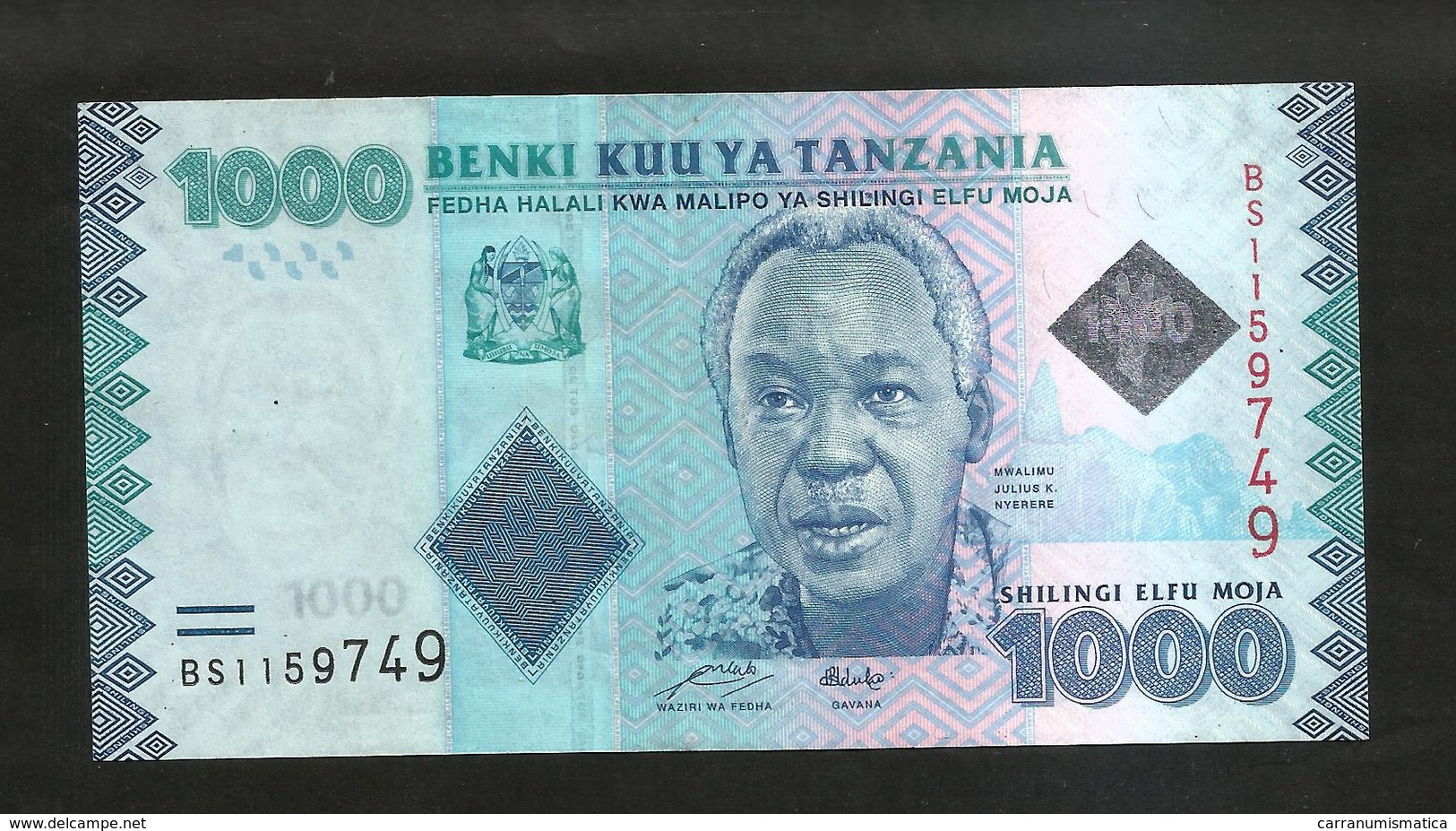 TANZANIA - 1000 SHILINGI (2010) - Tanzanie
