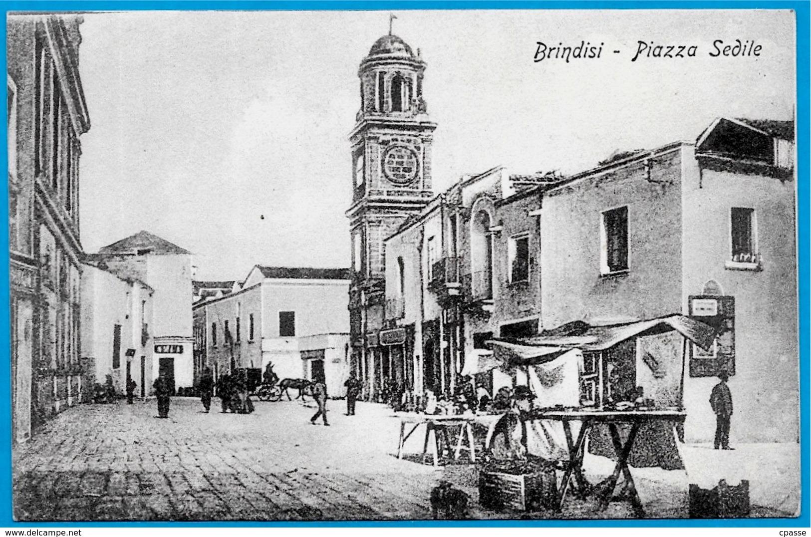 CPA ITALIE Italia Puglia BRINDISI - Piazza Sedile ° Ed. A. Anelli N° 17817 - Brindisi