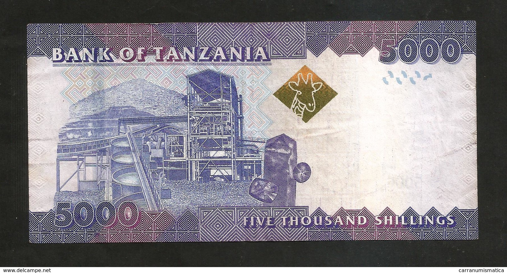 TANZANIA - 5000 SHILINGI - Tanzanie