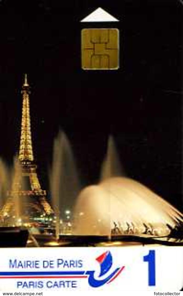 Carte De Stationnement Paris Carte 1 : Tour Eiffel La Nuit - Other Collections