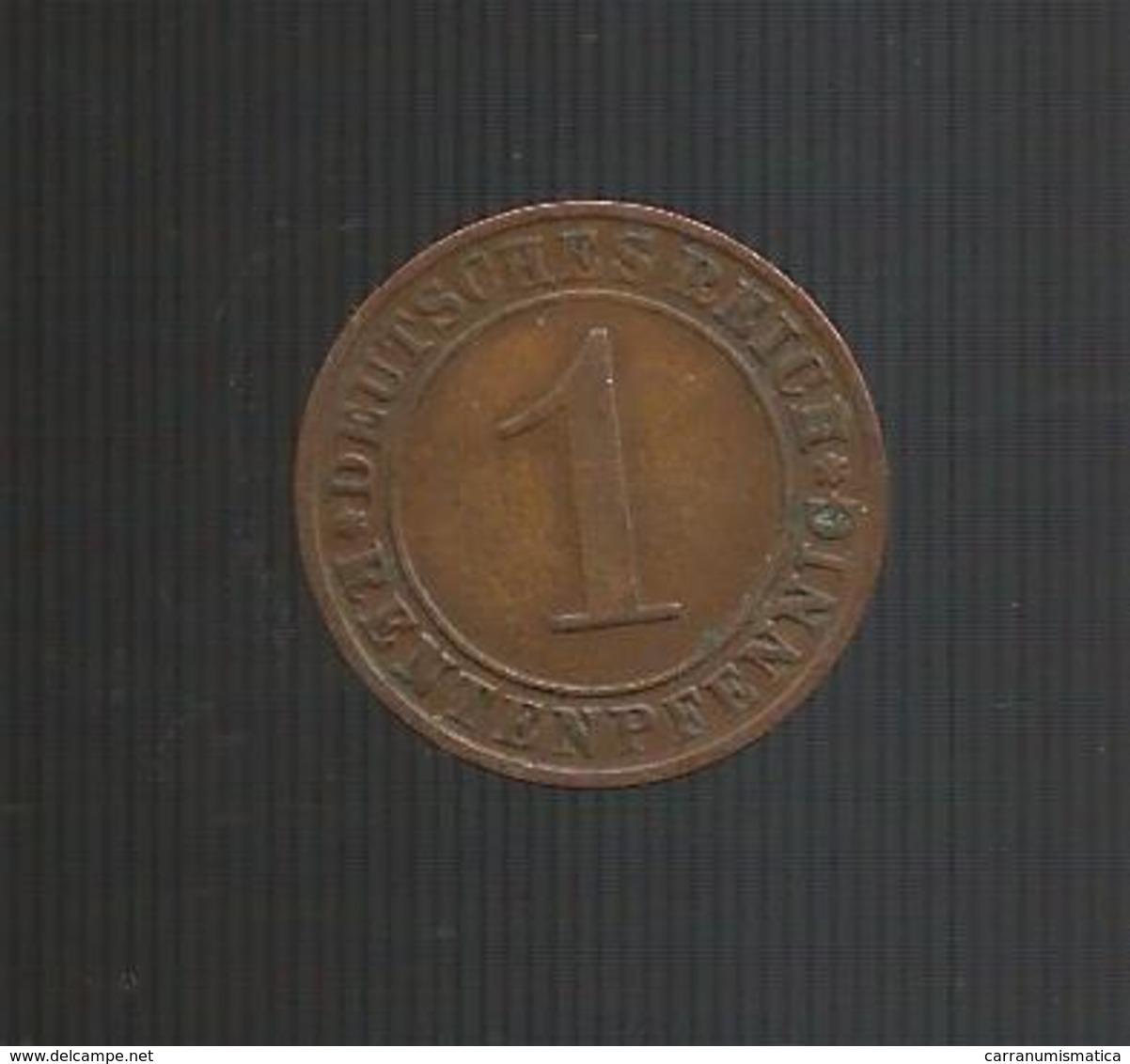 DEUTSCHLAND / GERMANY - Weimarer Republik - 1 REICHSPFENNIG ( 1923 A ) - [ 3] 1918-1933 : Repubblica Di Weimar