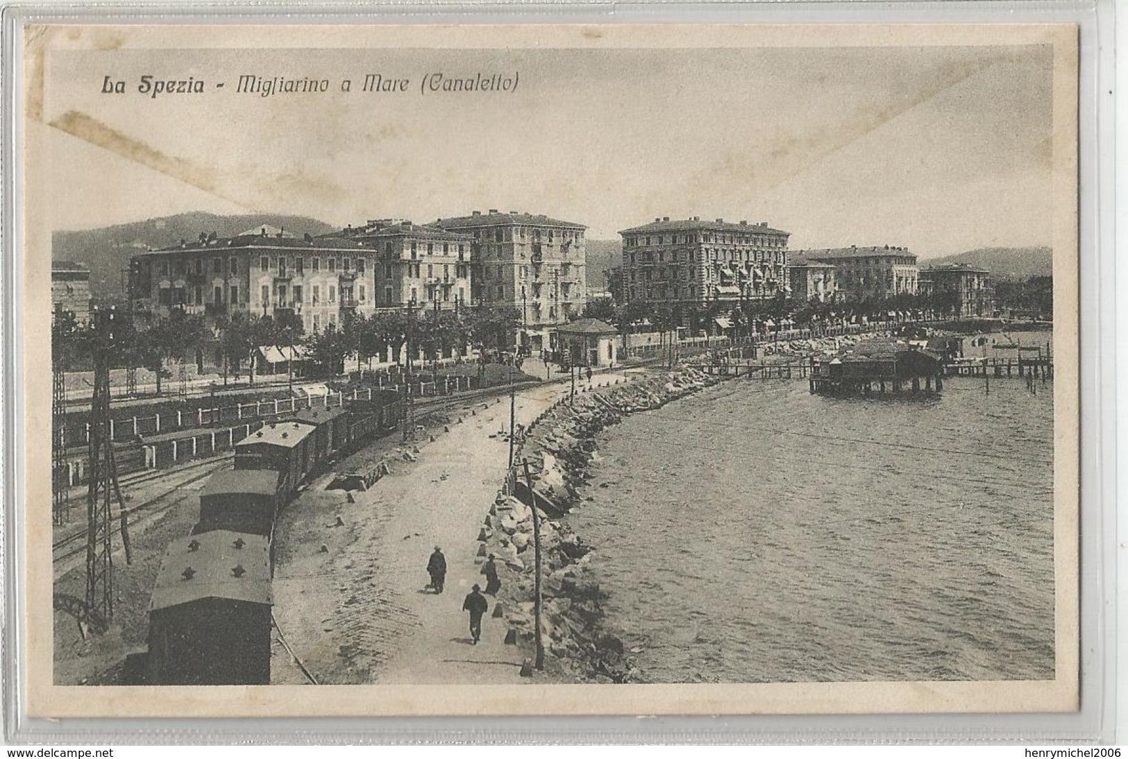 Italie Italy Italia La Spezia  Migliarino A Mare ( Canalello ) Train Gare Station - La Spezia