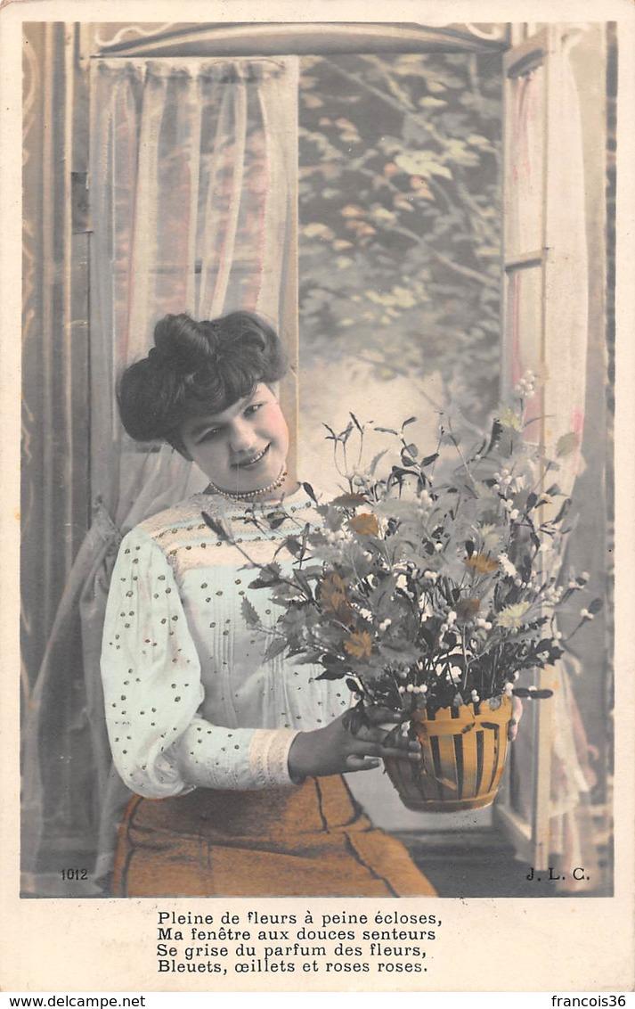 Lot De 84 CPA Fantaisie - Femmes Couples Fleurs Enfants Bonne Année - Autres