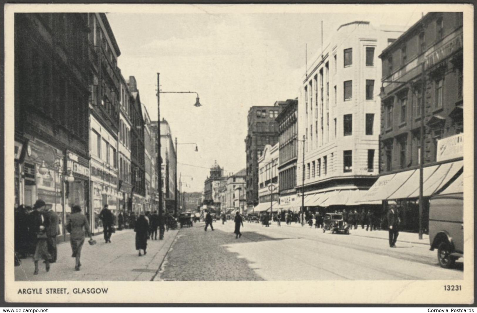 Argyle Street, Glasgow, 1955 - Salmon Postcard - Lanarkshire / Glasgow