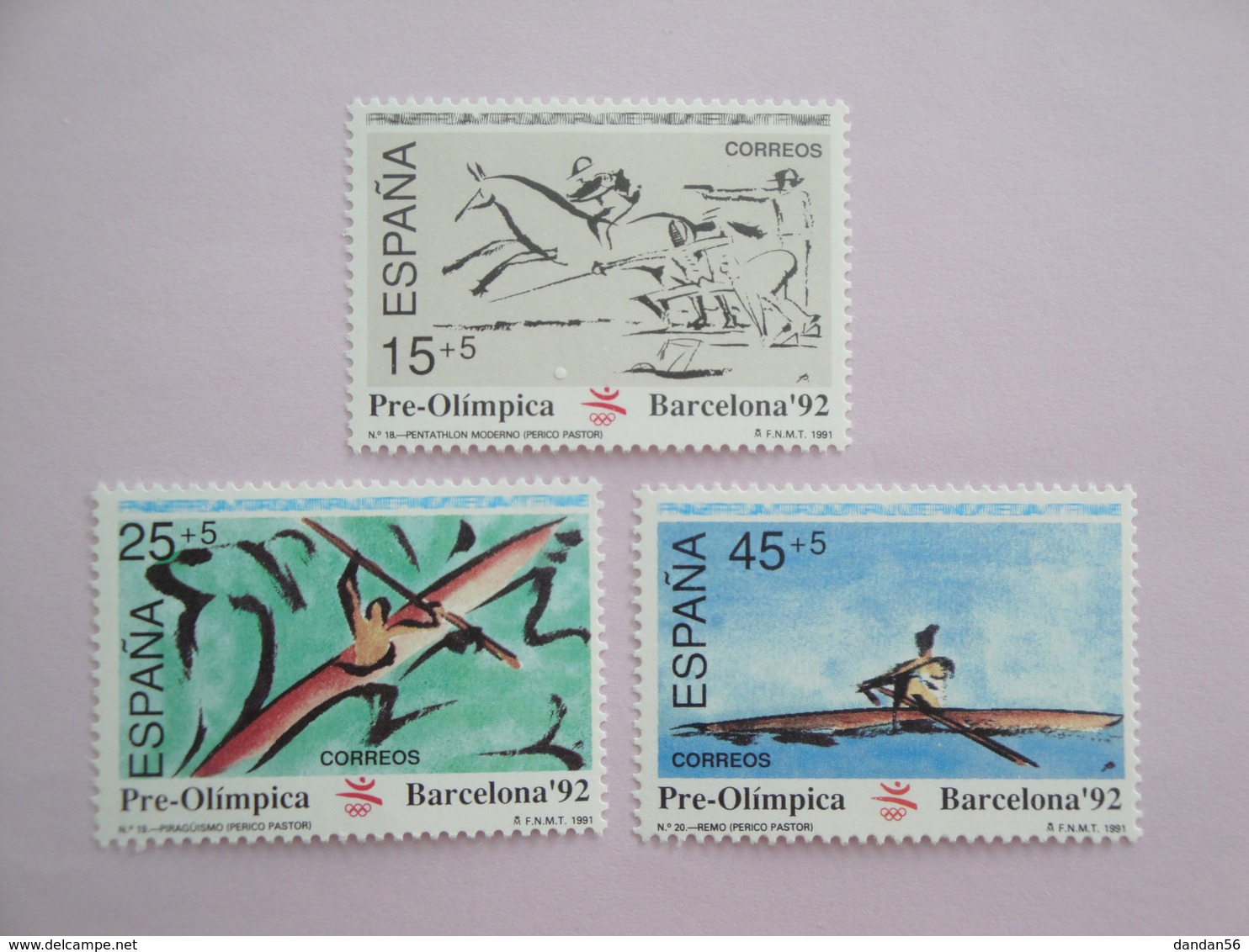 1991 Espagne Yvert 2715/7 ** Sport JO Scott Xx Michel 2980/2  SG 3098/00 - 1991-00 Neufs