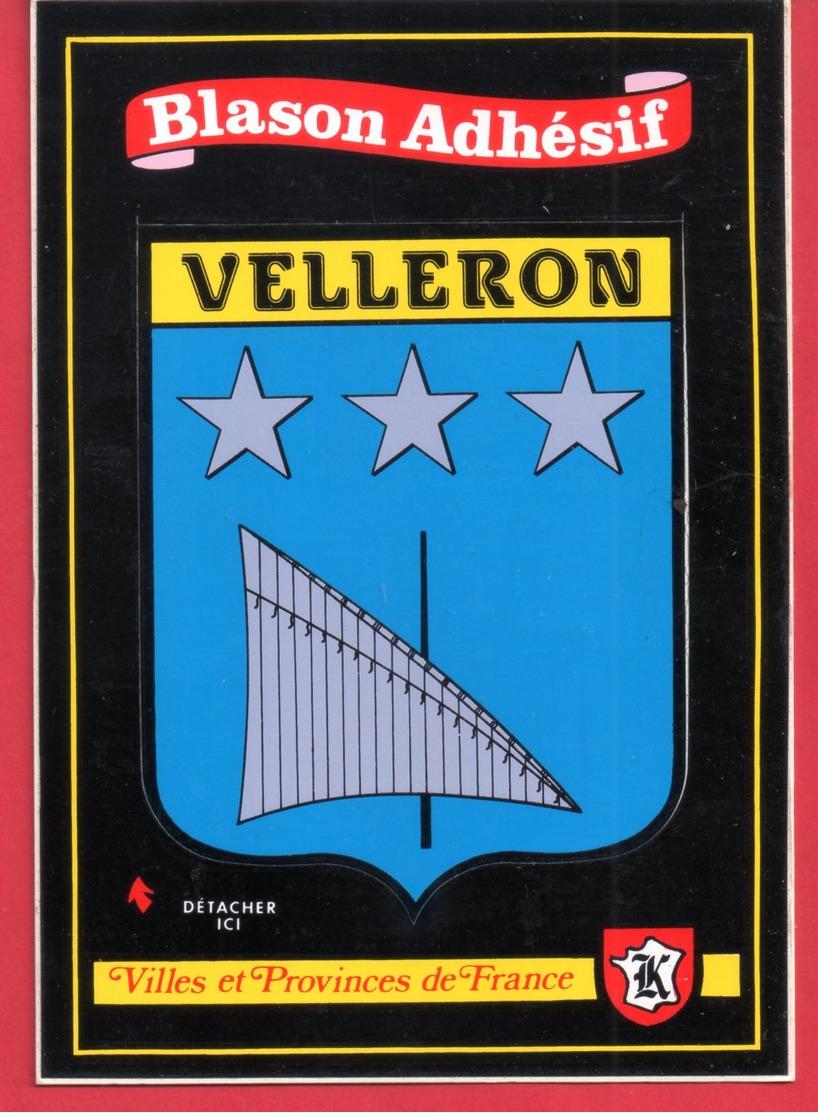 Blason Adhesif && Velleron ... (   Ref 14 574   ) - France