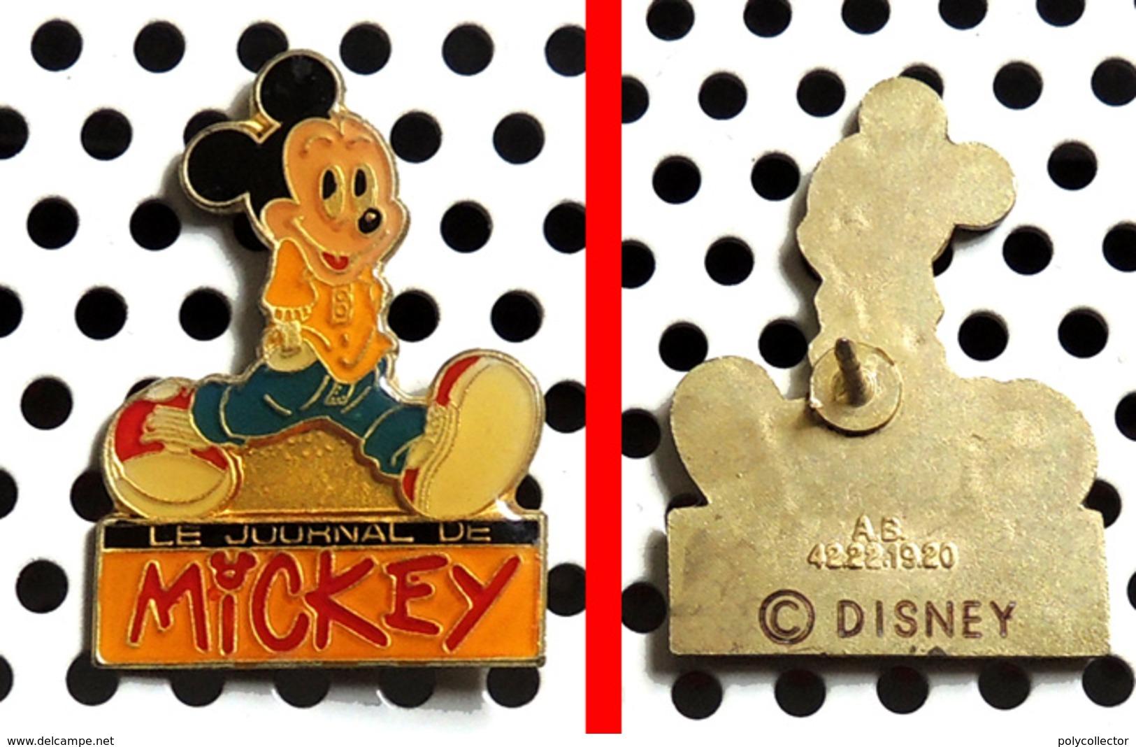 1 Pin's Disney Le Journal De Mickey Les Mains Dans Les Poches (Arthus Bertrand) - Disney