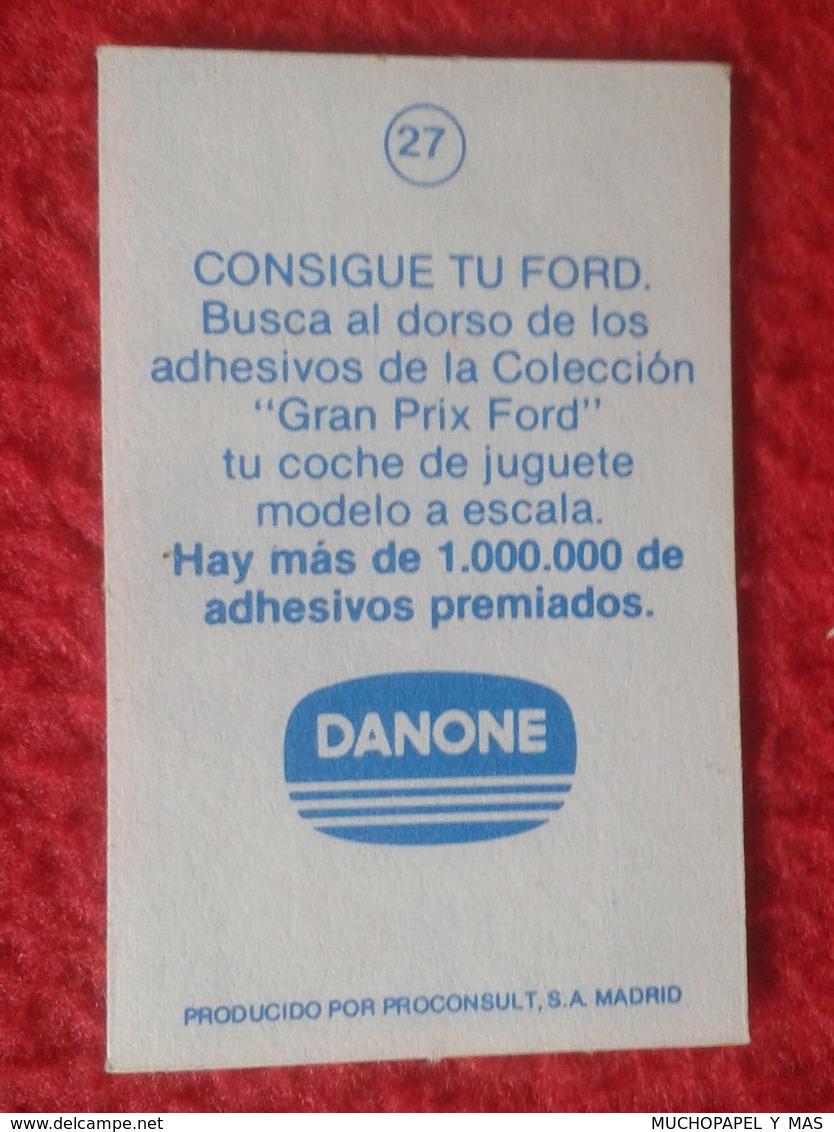 ANTIGUO CROMO DANONE COLECCIÓN GRAN PRIX FORD F1 FÓRMULA 1 G. P. DE AUSTRIA OSTEIRREICHRING 1976 JOHN WATSON PENSKE PC4 - Cromos