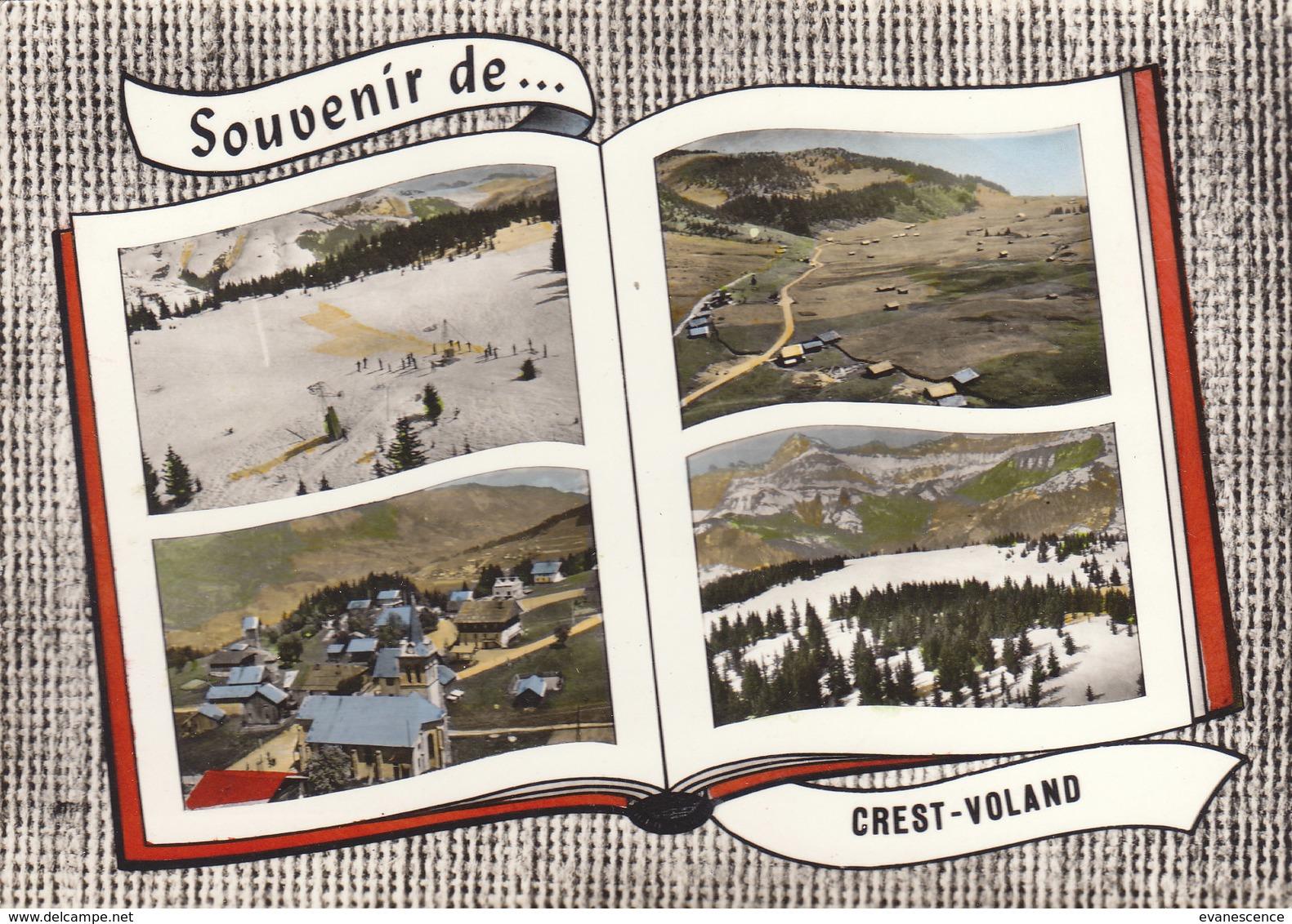 °°°°   73  CREST VOLAND  / SOUVENIR LIVRE OUVERT    °°°°    REF MAI 18 ///  N° 6870 - France
