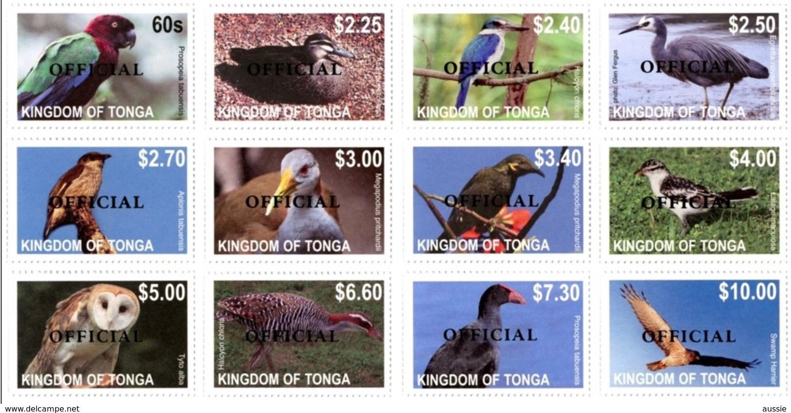 Tonga 2014 Yvertn° 82-93 Service Official *** MNH Cote 100 Euro Faune Oiseaux Vogels Birds - Tonga (1970-...)
