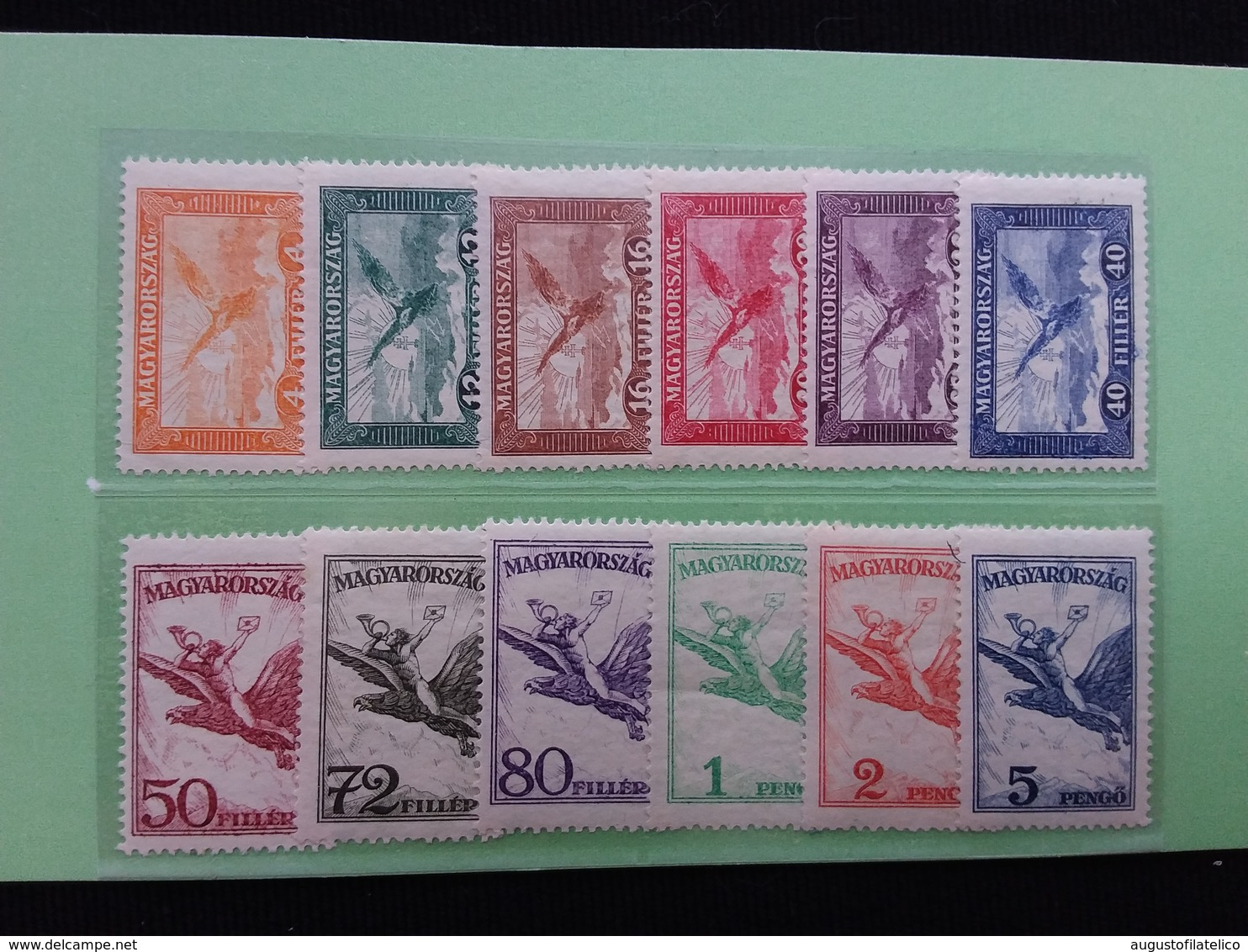UNGHERIA 1927/30 - Posta Aerea Nn. A12/19 + A20/23 Nuovi * + Spese Postali - Nuovi
