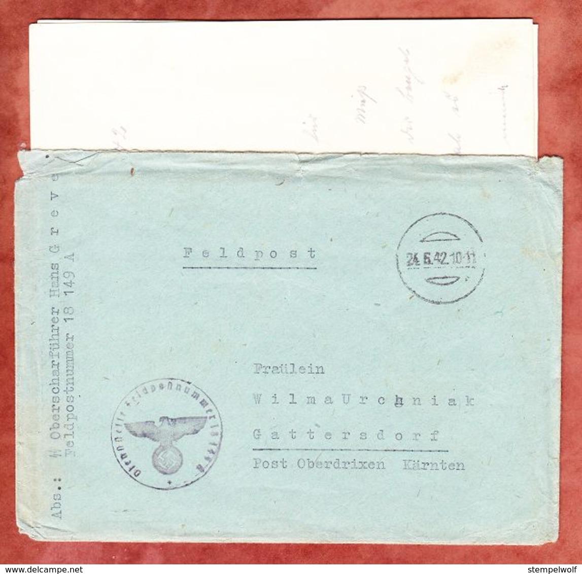 Brief Mit Inhalt, Per Feldpost, Tarnstempel, Aus Dem Osten Nach Gattersdorf Kaernten 1942 (52490) - Covers & Documents