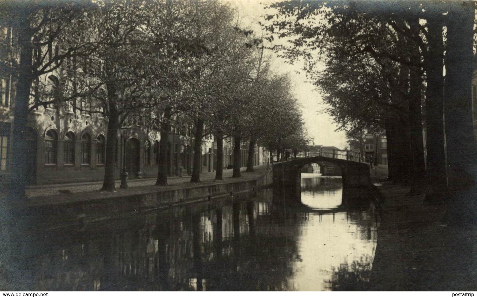 FOTOKAART 1925  VLIETBRUG LEIDEN - Leiden