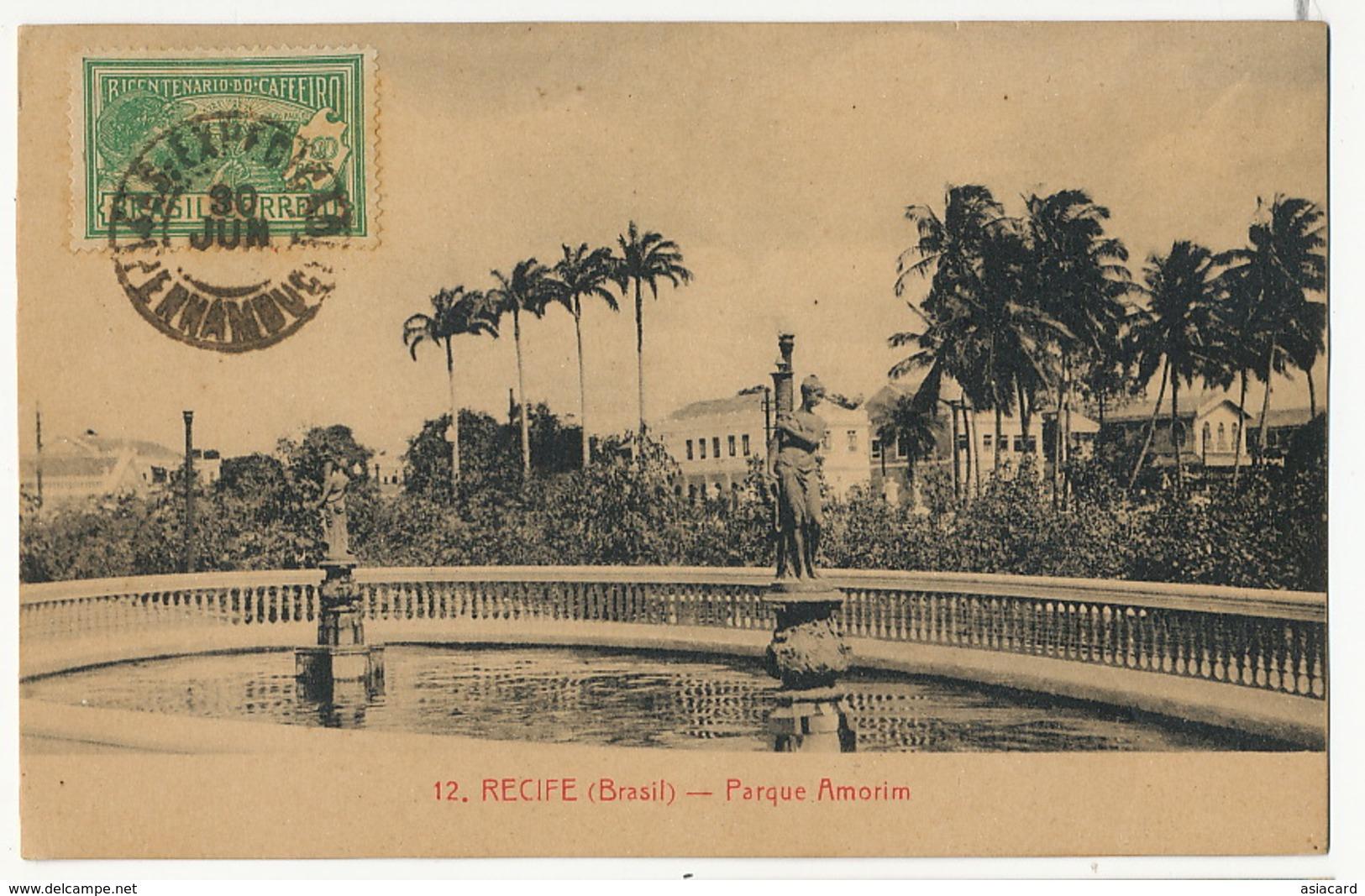 121 Recife Parque Amorim Postally Used To Trinidad Cuba - Recife